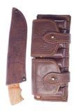 Messer und Patronengurt Stockbilder