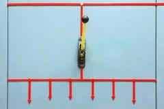 Messerschalter elektrisch Industrieller Hintergrund stockbild