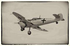 Messerschmidt bf109. World War 2 German Messerschmitt bf109 fighter plane landing Stock Images