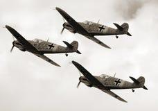 Messerschmidt Me109. Historic planes Messerschmidt Me109 on the airfield - vintage photography Stock Photo