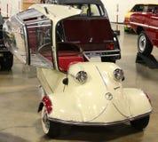 1955年Messerschmitt古董汽车 免版税库存照片
