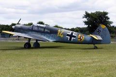 A Messerschmitt Bf 108 aircraft. A Messerschmitt Bf 108 on display in the UK Royalty Free Stock Photography
