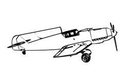 Messerschmitt BF109 trop figter Stock Image