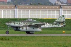Messerschmitt je 262 avions de chasseur à réaction de la deuxième guerre mondiale de Luftwaffe photographie stock