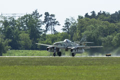 Messerschmitt Me 262 (Germany) demonstration during the International Aerospace Exhibition ILA Berlin Air Show-2014. Stock Photos