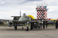 Messerschmitt Me-262 Schwalbe standing on runway Royalty Free Stock Image