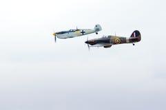 Messerschmitt vs Hurricane Royalty Free Stock Images