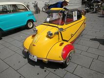 Messerschmitt yellow Koblenz sommer 2017 Royalty Free Stock Images