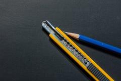 Messerschneider-Bleistiftspitzer - Archivbild Stockfotografie