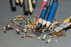Messerschneider-Bleistiftspitzer - Archivbild Stockfoto