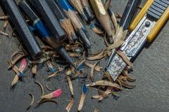 Messerschneider-Bleistiftspitzer - Archivbild Lizenzfreie Stockfotos