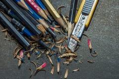 Messerschneider-Bleistiftspitzer - Archivbild Lizenzfreie Stockfotografie