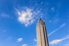 Messeturm - Fair Tower of Frankfurt stock images