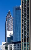 Messeturm seen from the trade fair premises - Frankfurt Stock Image