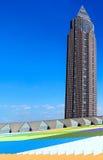 Messeturmen i Frankfurt - f.m. - strömförsörjning, Tyskland Royaltyfri Fotografi