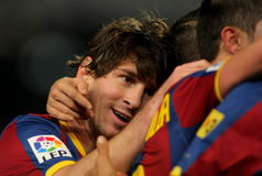 Messi of Barcelona Stock Images