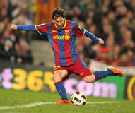 Messi of Barcelona. In action during the match between FC Barcelona and Athletic de Bilbao at the Nou Camp Stadium on February 20, 2011 in Barcelona, Spain Stock Image