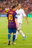Messi and Carvalho Royalty Free Stock Photos