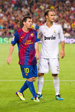 Messi and Carvalho Royalty Free Stock Photo