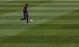 Messi dribbling Stock Images