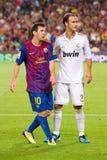 Messi e Carvalho Foto de Stock Royalty Free