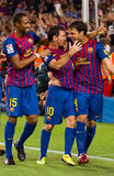 Messi et Fabregas, FC Barcelone Photographie stock