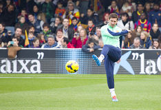 Messi at FC Barcelona training session Royalty Free Stock Images