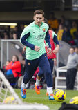 Messi at FC Barcelona training session Stock Photo