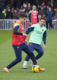 Messi at FC Barcelona training session Stock Photography