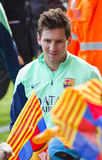 Messi at FC Barcelona training session Stock Images