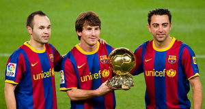 Messi with Golden Ball Award Royalty Free Stock Image