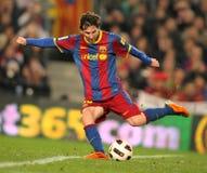 Messi von Barcelona Stockbild