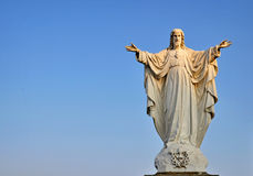 The Messiah Jesus Christ. The Messiah, statue of Jesus Christ in a beautiful light, background Stock Photos