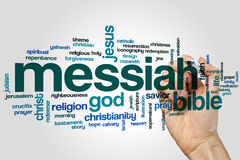 Messiah word cloud. Concept on grey background Stock Image