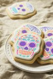 Messicano casalingo Sugar Skull Cookies fotografie stock