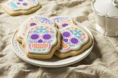 Messicano casalingo Sugar Skull Cookies fotografie stock libere da diritti