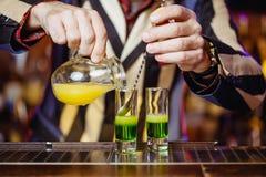Messicano verde sparato cocktail Fotografia Stock Libera da Diritti
