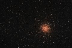 Messier 22 Globular Cluster. The Messier 22 globular cluster in the constellation Sagittarius as seen from Mannheim in Germany royalty free stock images