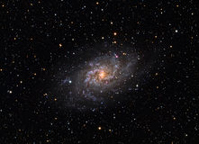 Messier 33 Triangulum Galaxy. The Triangulum Galaxy is a spiral galaxy approximately 3 million light-years from Earth in the constellation Triangulum. It is royalty free stock photo