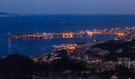 Messina al tramonto Fotografia Stock Libera da Diritti