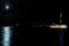 Messina alla notte Fotografia Stock