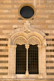 Messina Cathedral ornate window Stock Images