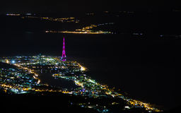 Messina in the night Stock Photos