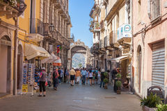 Messina Gate, Taormina Stock Photo