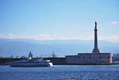 Messina harbour royalty free stock photo