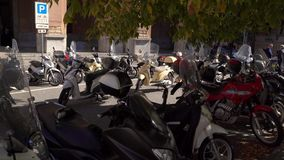 MESSINA, ITALY - NOVEMBER 06, 2018 - Streets of the old city with traffic, scooters and cars in Sicily in 4k stock video