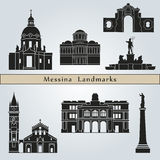 Messina landmarks and monuments Royalty Free Stock Image