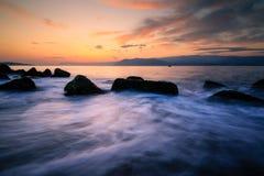 Messina och soluppgång Royaltyfri Bild