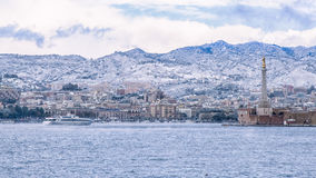 Messina snowy Royalty Free Stock Photo