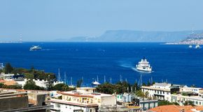 Messina strait stock images